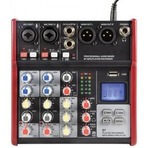 Citronic CSM-4 Compact Mixer With USB / Bluetooth