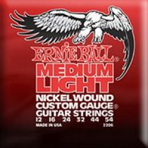 Ernie Ball 2206 Medium Light Nickel Wound 12-54