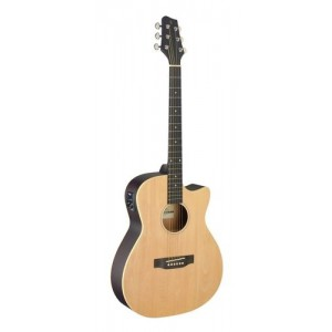 Stagg SA35 ACE-N Electro-Acoustic Auditorium Guitar Cutaway - Natural