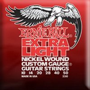 Ernie Ball 2210 Extra Light Nickel Wound 10-50