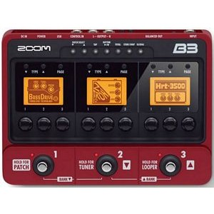 Zoom B3n Bass Multi Effects And Amp Simulator