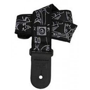 Planet Waves Joe Satriani Collection Straps - Silver Sketches