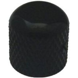 Dome Top TC/PB Style Knob With Grub Screw - Black - 5176bk