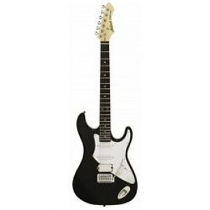 Aria 714 Standard Electric Guitar - Black