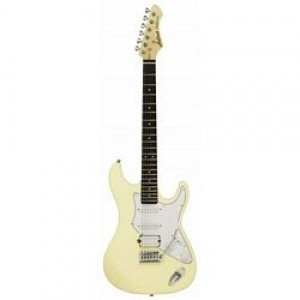 Aria 714 Standard Electric Guitar Vintage White