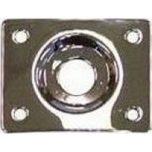 LP Style Recessed Jack Socket Plate - Chrome