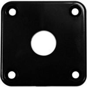 LP Style Plastic Jack Socket Plate - Black