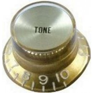 Hat Box Tone Control Knob - Gold 8252tg