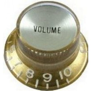 Hat Box Volume Control Knob - Gold 8252vgd