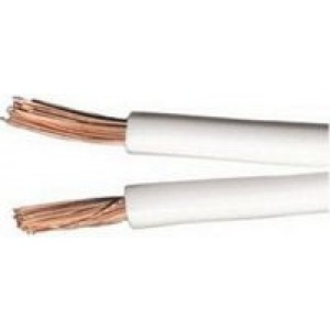 Heavy Duty White Figure of 8 Speaker Cable 1m