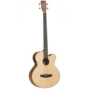 Tanglewood DBT AB BW Cutaway Electro Acoustic Bass Guitar Inc. Gigbag