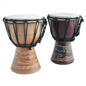 painted/carved djembe 15cm