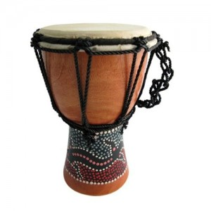 dot painted 30cm djembe