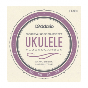 D'Addario EJ99SC Pro-Arté Fluorocarbon Ukulele Strings, Soprano/Concert