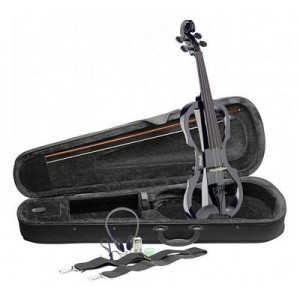 Stagg Electric Violin Outfit Black