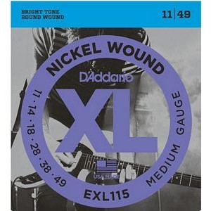 DAddario EXL115 Nickel Wound Blues/Jazz Rock (.011-.049)