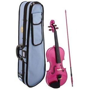 Stentor Harlequin Violin Outfit - 1/2 Pink