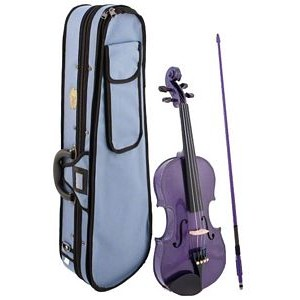 Stentor Harlequin Violin Outfit - 1/2 Purple
