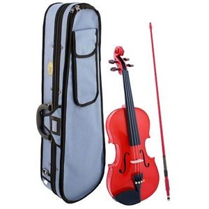 Stentor Harlequin Violin Outfit - 1/2 Red
