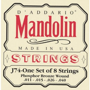 Daddario EJ74 Mandolin Medium Gauge Set Medium 11-40