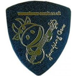 Jumping Cow Leather Plectrum - Black