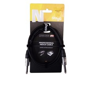 Stagg NGC10R Instrument Cable 10m - Deluxe BLACK