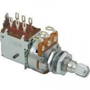 Linear Tone Push Pull Guitar Potentiometer - 250K