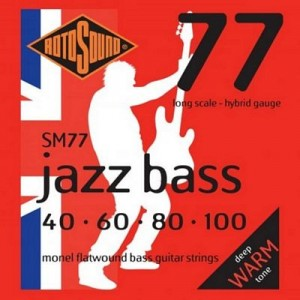 Rotosound RS77LD Jazz Monel flat wound strings Long Scale - Standard 45-105