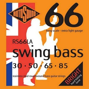 Rotosound RS66LA Swing Bass Guitar Set - Stainless Steel Roundwound 30-85 Gauge