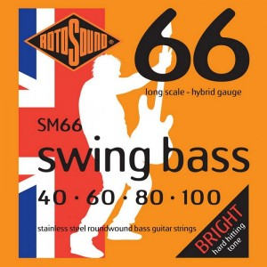Rotosound SM66 Swing Bass 66, Long Scale, Hybrid, 40-100