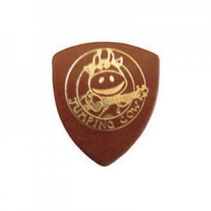 Jumping Cow Leather Plectrum - Tan