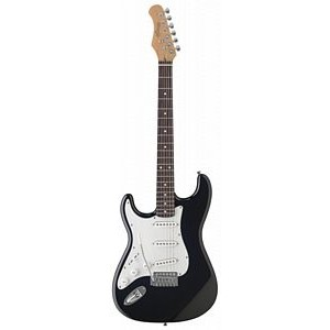 Stagg S300LHBK Left Handed Electric Guitar - Black