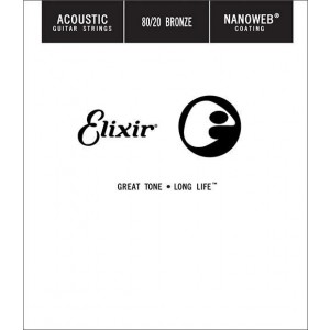 Elixir Bronze Wound Nanoweb Single 53