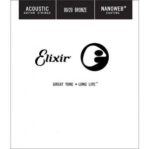Elixir Bronze Wound Nanoweb Single 22
