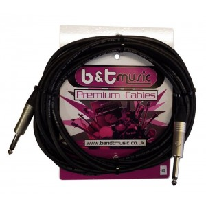 B&T Music Premium Cable 10m Jack To Jack - Black