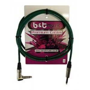 B&T Music Premium Cable 3m Jack To Angle Jack - Green