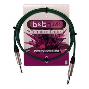 B&T Music Premium Cable 3m Jack To Jack - Green
