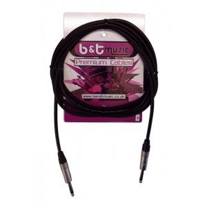 B&T Music Premium Cable 6m Jack To Jack - Black