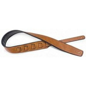 Stagg Padded Leather Style Strap Honey